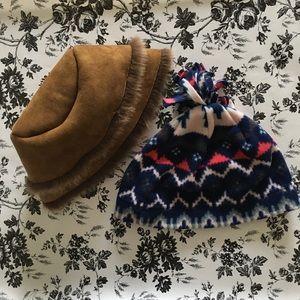 Lot 2 Small Size Winter Hats (Girls)